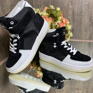 💕MICHAEL Michael Kors Jaden High Top Canvas black